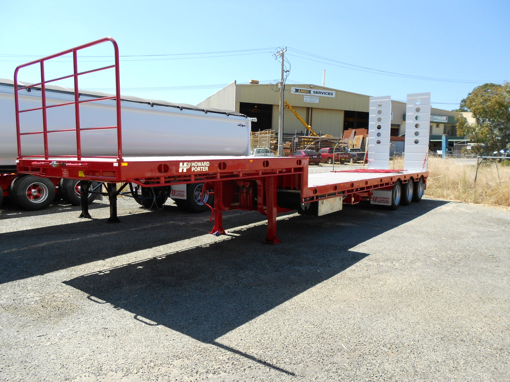 Side Tipping Semi Trailer